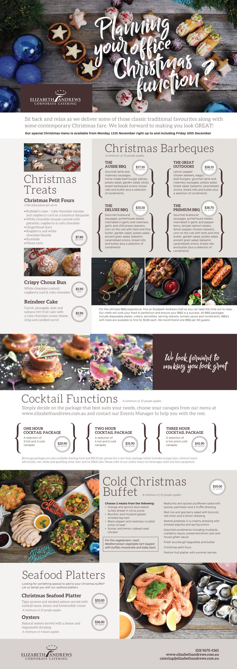 Elizabeth Andrews Catering Christmas Corporate Catering Melbourne
